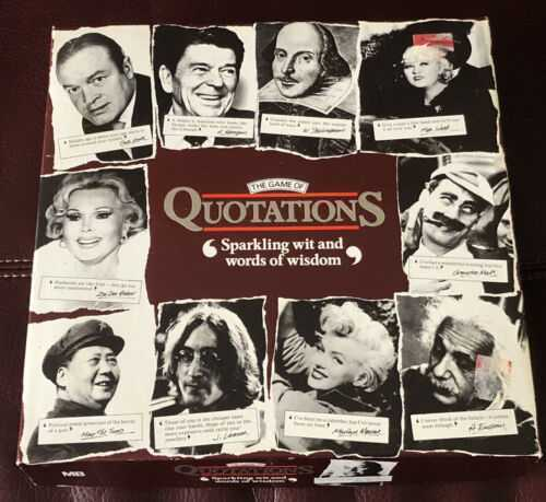 The Game of Quotations MB Games Vintage Board Game