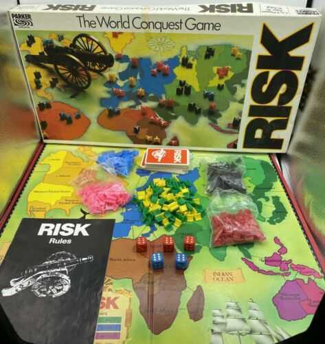 Vintage Risk The World Conquest Board Game Parker Brothers 1985 Edition Strategy