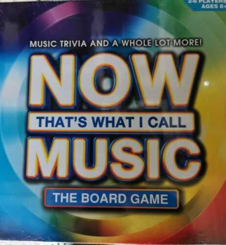 Now thats what I call music. The board game. Music trivia for 2 to 6 players age