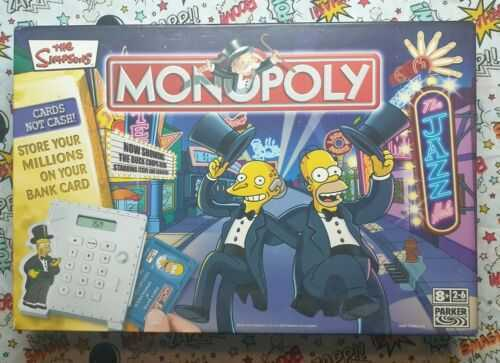 The Simpsons Monopoly Board Game Family Fun NO Money card only Version