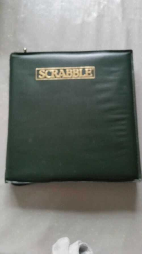 TRAVEL CASED SCRABBLE. USED. VGC.