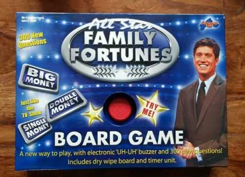 All Star Family Fortunes Vernone Kaye Board Game complete